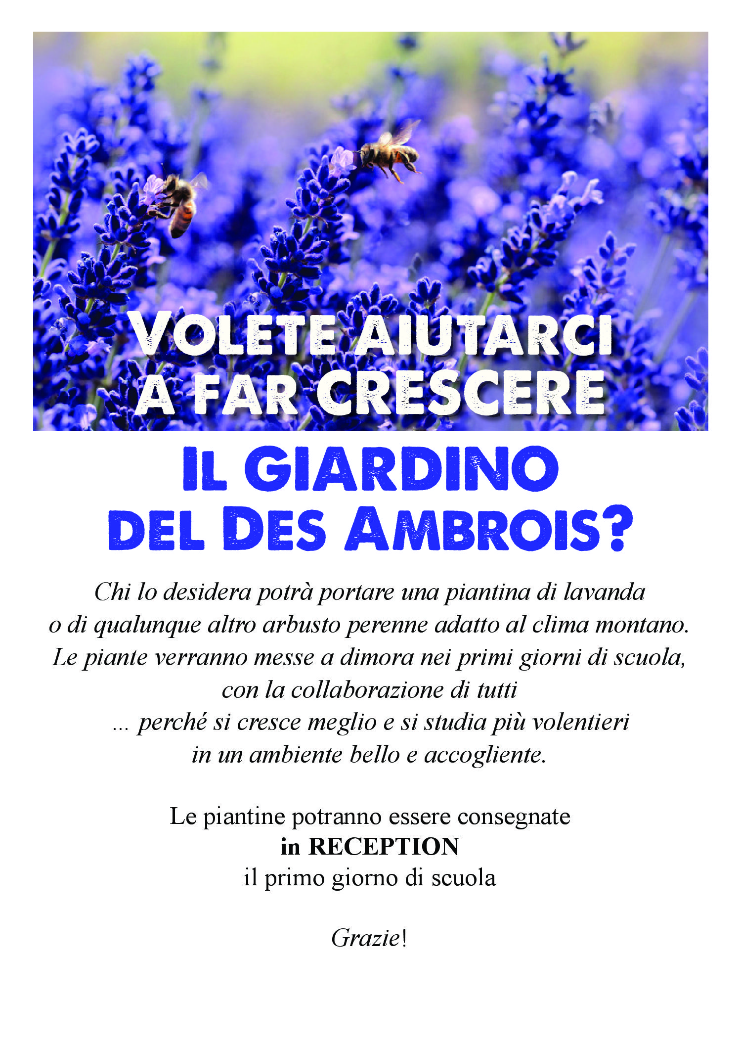 Il giardino del Des Ambrois sta crescendo.  Un GRAZIE al Consorzio Forestale per la costante collaborazione! Volete aiutarci anche voi a  farlo crescere?