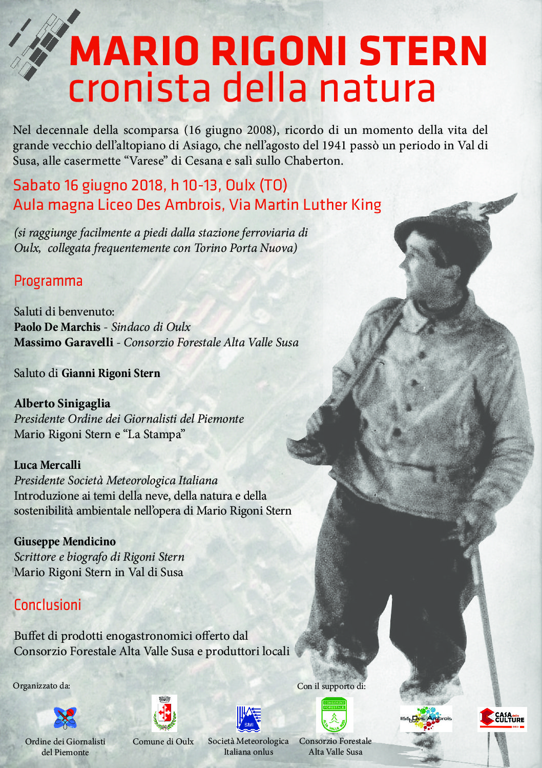 Ricordi di Mario Rigoni Stern nell'auditorium dell' I.I.S.S Des Ambrois