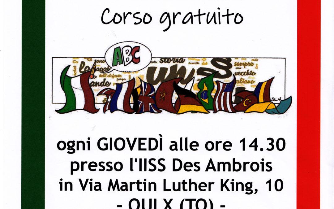 Dall' 8 novembre, incontri gratuiti per imparare l'italiano!
