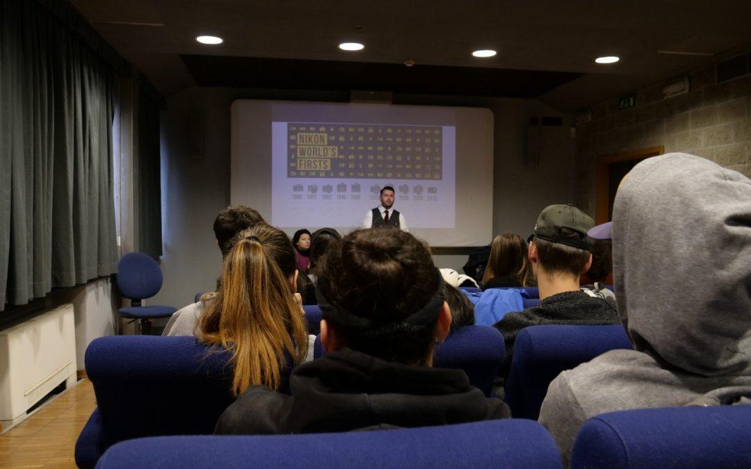 Gli studenti dell'indirizzo multimedia alla Masterclass Nikon Seeyousound