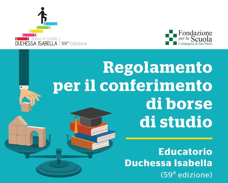 """Borse di Studio """"Educatorio Duchessa Isabella"""""""